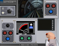 Simulation of train driver display